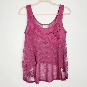 Urban Outfitters Pins & Needles Lace tank
